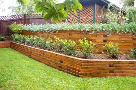 image of landscape timber retaining wall