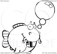 Small Picture Cartoon Clipart Of A Black And White Talking Chubby Catfish