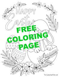 Free printable cute disney coloring pages for kids! Free Printable Easter Bunny Coloring Pages Activity Page