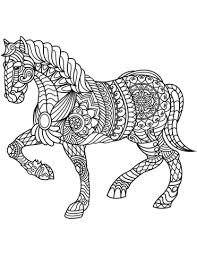 Horse Zentangle Coloring Page Free Printable Coloring Pages