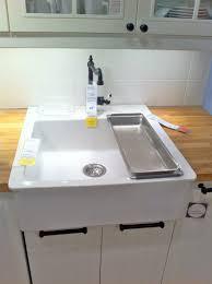 vintage kitchen ideas with ikea top mount ceramic sinks sleek