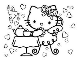 They are a great way to be spending some time filling colors on the already. Hello Kitty Tea Party Coloring Page Hello Kitty Colouring Pages Hello Kitty Coloring Hello Kitty Birthday