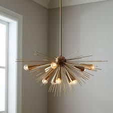 west elm lighting sculptural glass globe 3 light chandelier mixed