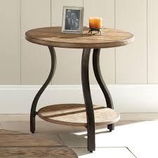 Steve Silver Denise Round Light Oak Wood End Table Walmartcom