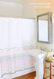 how to change the dcor of your bathroom with a simple diy shower curtain 15 ideas diy shower curtain ideas t95 shower