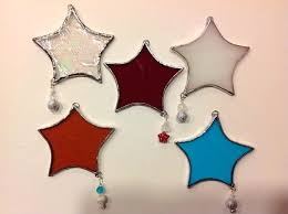 stain glass ornaments glass icicle tree decorations stained glass icicle tree ornaments