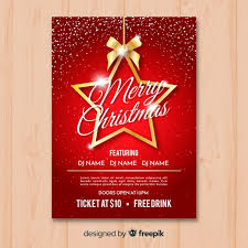 Free Christmas Flyer Templates Download Christmas Party Flyer Template In Red And Gold Vector Free