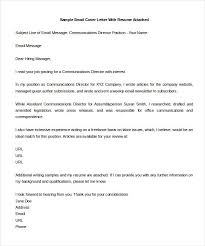 Free Sample Of A Cover Letter Email Cover Letter For Job Application Samples Cover Letter Email