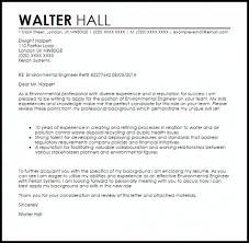 Environmental Engineer Cover Letter Sample Livecareer For Cover