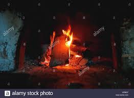 Brennholz Brennen Im Ofen Im Ländlichen Hintergrund Mit