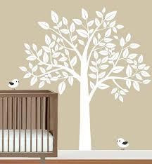 tree wall decal white baby decals sticker nursery
