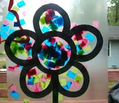stained glass contact paper stained glass craft with tissue and designs elegant