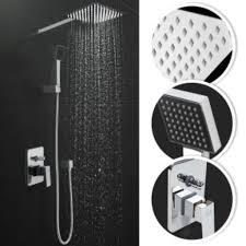 Regendusche Im Quadratisch Design Kopf Und Handbrause Duschsystem Duscharmatur Brausegarnitur Regenbrause