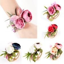 <b>Wedding Decoration</b> Mariage <b>Rose Wrist</b> Corsages Hand <b>Flower</b> ...