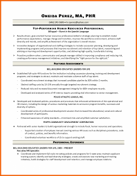 Hr Generalist Resume Inspiration Hr Generalist Resume Sample Download Also Entry Level 29