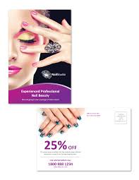 Grand Opening Postcards Nail Beauty Salon Postcard Template Nail Flyers Ktunesound Nail