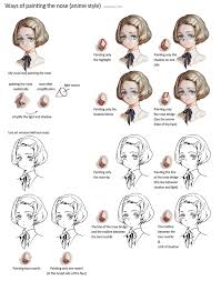 Hair Style Anime ways of painting the nose anime style by janemere on deviantart 1628 by wearticles.com