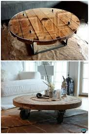 diy wire spool coffee table wood wire spool recycle ideas