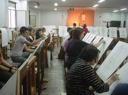 En clase de dibujo