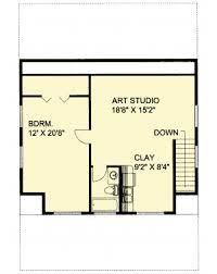 Garage Apartment with Art Studio - 35443GH floor plan - 2nd Floor
