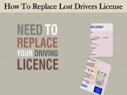 how to replace lost drivers license