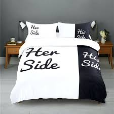 blackwhite her side his bedding sets queen king size double bed 3pcs 4pcsmodern duvet cover canada