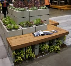 Cinder Block Outdoor Kitchen Cinder Block Bench With Back Design