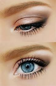 natural gold and peach eyes