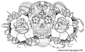 pictures of skulls to color. Unique Skulls Sugar Skull Color Pages Skulls Coloring  Free Printable Download Pdf Inside Pictures Of To R