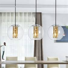 modern simple glass pendant lights living room bedroom led golden kitchen pendant lamps glass ball de