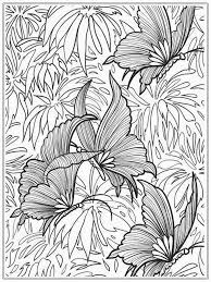 Small Picture Adult coloring page Butterflies Butterfly Coloring Pages