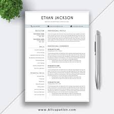 Elegant Resume Elegant Resume Template Creative CV Template 244 24 24 Page Cover 5