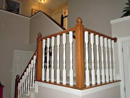 builder grade oak stair railing makeover using gel stain, Semi-Domesticated  Mama featured on. Diy StairStair BanisterWood ...