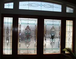 custom made stained glass elegant front door entry system