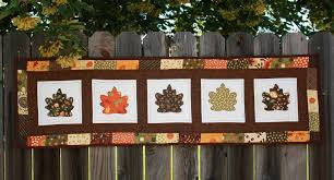 Autumn Quilt Patterns to Keep You Warm This Fall & Fall leaves table runner Adamdwight.com