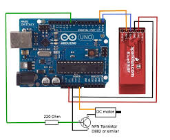 update 2016 05 28 for bigger motor use 2 npn transistors and separate power supply