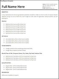 Work Experience Resume Format Resume Format Without