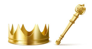 Free Vector   Golden scepter and crown for king or queen, royal wand and  corona with red gems for monarch. gold monarchy emperor symbols, imperial  coronation headwear, rod or mace, realistic 3d