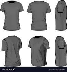 Tee Shirts Templates Mens Black Short Sleeve T Shirt Design Templates Vector Image