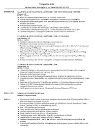 Admin Job Profile Resume Learning Development Administrator Resume Samples Velvet