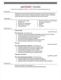 Inroads Resume Template Clerical Assistant Resumes Entry Level Office Assistant  Resume Ideas