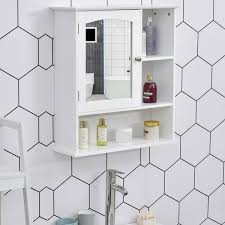 kleankin bathroom cabinet wall mount