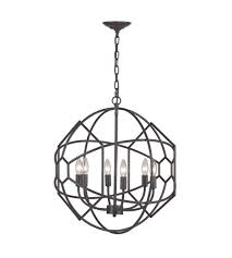 sterling 140 005 strathroy 6 light 21 inch aged bronze chandelier ceiling light