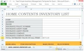 Basic Inventory Spreadsheet Simple Inventory Template