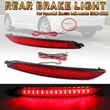 2012 Hyundai Elantra Running Light Bulb Amazon Com Carvicto 1 Pair Car Led Rear Bumper Reflector