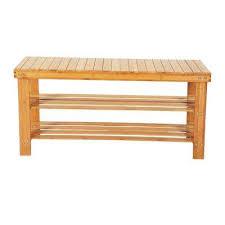 10 pair 90cm strip pattern 3 tiers bamboo stool shoe rack wood color shoe organizer