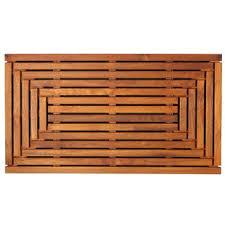 solid teak wood shower mat teak shower mat m35