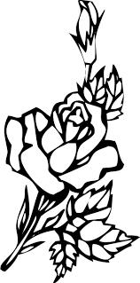 花のイラストフリー素材白黒モノクロno131白黒切り絵風