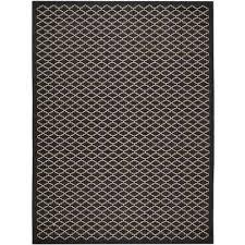 courtyard black beige 8 ft x 11 ft indoor outdoor area rug