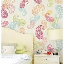 jaipur paisley wall art stencil small indian design stencils reusable stencils for walls on paisley wall art stencil with jaipur paisley wall art stencil small indian design stencils